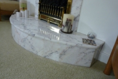 Small Marble Fireplace Built By Us
