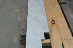 Long Carrara Marble Hearth