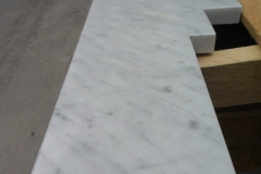 A Carrara Marble Hearth